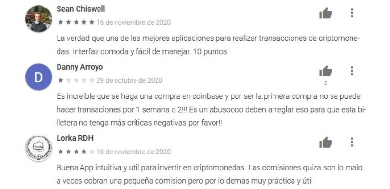 críticas y propuestas de mejora para Coinbase