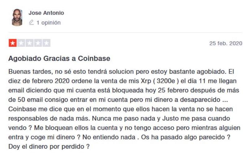 problemas para retirar dinero con Coinbase