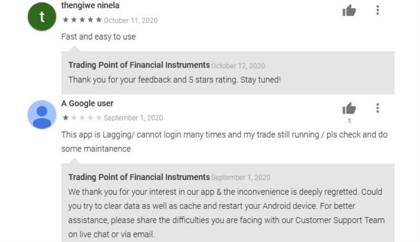 notas de la app