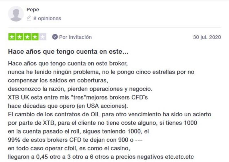 explicación del funcionamiento de XTB